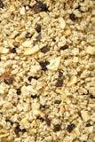 Muesli y frutas secadas, visión de arriba Visión superior fotografía de archivo
