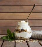 Muesli y yogur Foto de archivo