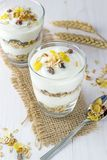 A Muesli and Yoghurt Breakfast Royalty Free Stock Photos