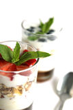 Muesli and yogurt Royalty Free Stock Photos