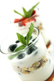 Muesli and yogurt Stock Photo