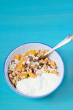 Muesli and yogurt Stock Photos