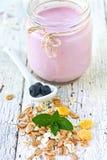 Muesli and yogurt Royalty Free Stock Image