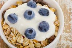 Muesli and yogurt with fresh berries Royalty Free Stock Photo