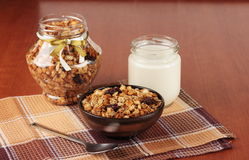 Muesli and yogurt Royalty Free Stock Images
