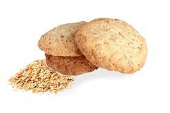 Mueslikoekjes Smakelijke koekjes eigengemaakte koekjes, met havervlokken i stock foto's