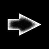 Muestra abstracta blanca de la flecha derecha Imágenes de archivo libres de regalías