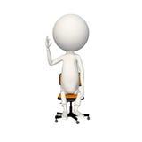 Muestra ACEPTABLE del hoagy en silla ilustración del vector