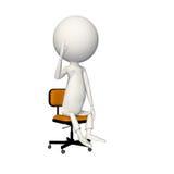 Muestra ACEPTABLE del hoagy en silla stock de ilustración