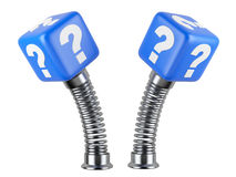 Muestra activa de la pregunta en una primavera Un problema súbito Imagen de archivo libre de regalías