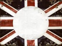 Muestra aherrumbrada del metal con la bandera inglesa Fotos de archivo