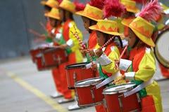 Muestra al niño del drumband foto de archivo