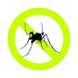 Muestra alerta y repugnante del mosquito Imágenes de archivo libres de regalías