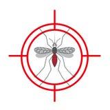 Muestra amonestadora de la protección del mosquito Mosquitos antis, símbolo de control de insecto Ilustración Fotos de archivo libres de regalías