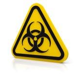 Muestra amonestadora del biohazard Foto de archivo libre de regalías