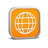 Muestra anaranjada del Web Foto de archivo libre de regalías