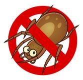 Muestra anti de la araña libre illustration
