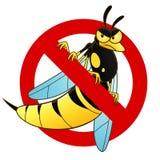 Muestra anti de la avispa ilustración del vector