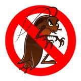 Muestra anti de la cucaracha ilustración del vector