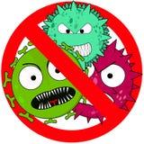 Muestra anti del virus en blanco Imagen de archivo libre de regalías