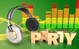 muestra audio del partido del espectro 3d Imagen de archivo