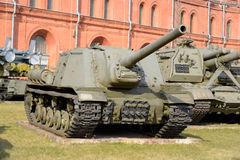 122 muestra automotora del arma ISU-122 del milímetro en 1944 Imagen de archivo