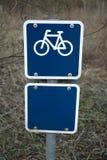 Muestra azul de la bicicleta Fotos de archivo libres de regalías