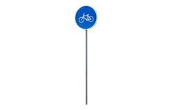 Muestra azul del movimiento de la bicicleta Fotografía de archivo libre de regalías