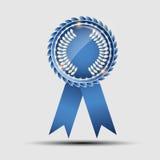 Muestra azul del vector, plantilla de la etiqueta Imagen de archivo libre de regalías