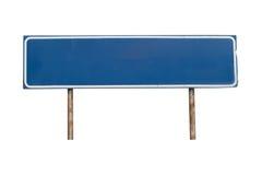 Muestra azul vacía en el fondo blanco Imagen de archivo libre de regalías