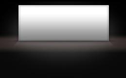 Muestra blanca en blanco en el fondo oscuro 3d