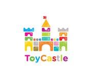 Muestra brillante creativa de Toy Brick Castle Kids Store ilustración del vector
