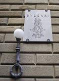 Muestra Bulgari Florence Italy Fotografía de archivo libre de regalías