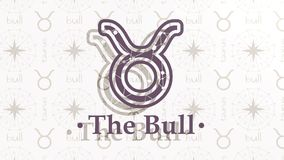 Muestra Bull de la astrología ilustración del vector