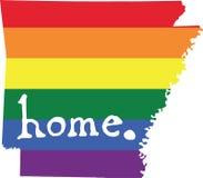 Muestra casera del estado del vector del orgullo gay de Arkansas libre illustration