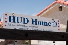 Muestra casera del poste de Hud Fotografía de archivo
