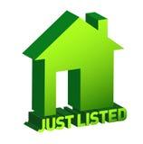 Muestra casera verde, concepto de las propiedades inmobiliarias