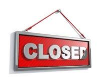 Muestra cerrada stock de ilustración