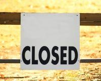 Muestra cerrada Foto de archivo