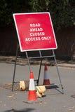Muestra cerrada del camino Fotografía de archivo