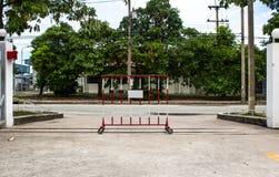 Muestra cerrada del camino Foto de archivo