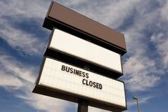 Muestra cerrada del negocio Imagen de archivo libre de regalías