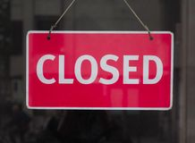 Muestra cerrada roja fotografía de archivo libre de regalías