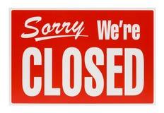 Muestra cerrada roja Imagenes de archivo