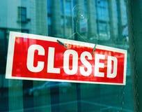 Muestra cerrada roja fotografía de archivo