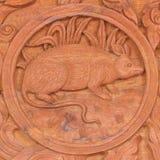 Muestra china del animal del zodiaco de la rata Fotos de archivo