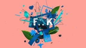 Muestra colorida de moda libre illustration