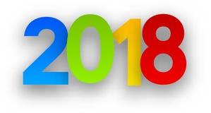 Muestra colorida del Año Nuevo 2018 Imagen de archivo