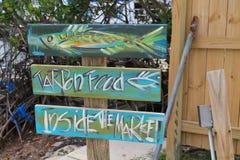 Muestra colorida del restaurante en las llaves de la Florida fotografía de archivo libre de regalías
