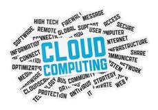 Muestra computacional de la nube Foto de archivo libre de regalías